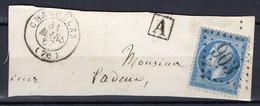"""FRANCE : OBLITERATION LOSANGE SUR FRAGMENT : G C 903 """" Charolles Saône-et-Loire """" . A SAISIR . - 1849-1876: Période Classique"""