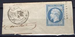 FRANCE : OBLITERATION LOSANGE SUR FRAGMENT : P C ?  . A SAISIR . - 1849-1876: Période Classique
