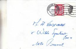 Belgique - Lettre De 1990 - Oblit Bruxelles - Timbres NON Dentelés Du Bloc Souvenir ! - Lettres & Documents