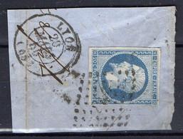 """FRANCE : OBLITERATION LOSANGE SUR FRAGMENT : G C 2145 """"  Lyon Rhone """". A SAISIR . - 1849-1876: Période Classique"""