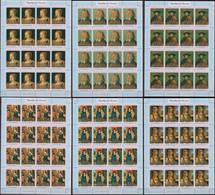 Burundi 08.10.1971 SHEETS Mi # 790-95 А, Paintings By Albrecht Dürer OVERPRINT MNH OG - Other