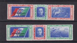 Italia Regno 1933 A51-52 Soprastampa Ques Mnh - Mint/hinged
