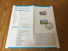 Belgique N°2150 Schtroumpfs Sur Feuillet De La Poste - Lettres & Documents