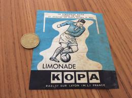 Ancienne Étiquette «Limonade KOPA - RABLAY SUR LAYON (49)» (football) - Altri
