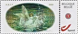 """2 Zegels MyStamp """"Brilduiker"""" A.B.C.P. (Groot En Klein Beeld) - 1985-.. Oiseaux (Buzin)"""
