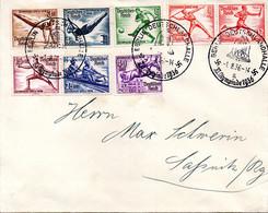 "DR Satzbrief MiF Mi 609/16 SSt BERLIN DEUTSCHLANDHALLE 1.8.36 ""XI.Olympiade 1936"" - Covers & Documents"