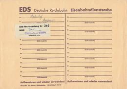 DDR A5 Brief Dienst EDS Eisenbahndienstsache Deutsche Reichsbahn Wertsendung 262 Reichsbahnamt Cottbus - Official