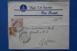 W2 ESPAGNE  BELLE LETTRE  1951   MADRID   POUR JIGON   + AFFRANCH. INTERESSANT - 1961-70 Briefe U. Dokumente