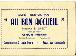86 - Cenon : Carte De Visite - Café AU BON ACCUEIL - Andere Gemeenten