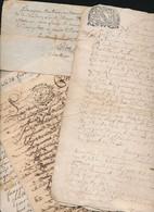 Lot De 9 Papiers écrits à La Plume  Du 18 ° Siècle - Documenti Storici