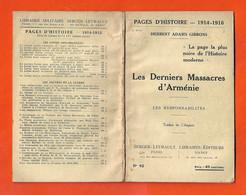 """Ww1 RARE Génocide Arménien """"Les Derniers Massacres D'Arménie 1914-1916 Brochure éditeur Henri Durville - Historical Documents"""