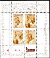 COSTA RICA - NUMBERED BLOCK SHEET - POPE JOHN PAUL II - MINT NOT HINGED SOUVENIR 2.15 - Papes