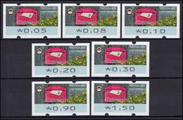 9 Empfangen - 7 ATM 5-150 Cent 2017, Satz VS 1, Postfrisch ** - Automaten