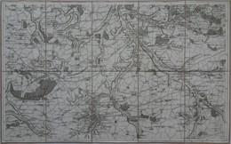 18è Siècle (1800) CARTE GÉOGRAPHIQUE : Chartres Maintenon Épernon Auneau Gallardon Bouglainval Ymeray - (TRÈS BEL ÉTAT) - Non Classificati