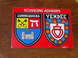 Blason écusson Adhésif Autocollant Commequiers Vendée Aufkleber Wappen Sticker Coat Arms Adesivi Stemma Adhesivo Escudo - Oggetti 'Ricordo Di'