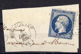 """FRANCE : OBLITERATION LOSANGE SUR FRAGMENT : PC ? 2079  """"  Montélimar Drôme  """" . A SAISIR . - 1849-1876: Période Classique"""