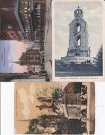 DC717- Ak Aachen 3 Karten Lot Postwagen Am Rathaus Bismarckturm Stadtwald Kaiser-Friedrich Denkmal - Aachen