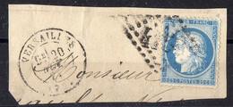 """FRANCE : OBLITERATION LOSANGE SUR FRAGMENT : GC 4158  """"  Versailles Seine-et-Oise  """" . A SAISIR . - 1849-1876: Période Classique"""