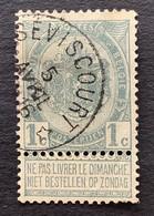 Rijkswapen OBP 53 - 1c Gestempeld  RELAIS SEVISCOURT - 1893-1907 Coat Of Arms