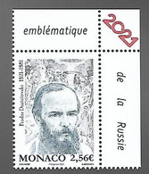 Monaco 2021 - Fiodor Dostoïevski ** - Neufs