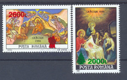 1998 Christmas,Weihnachten,Navidad,Natale,surcharged:Santa,Tree,Romania,5371,MNH - Nuevos