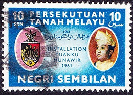 MALAYA NEGRI SEMBILAN 1961 10c Multicoloured SG80 Used - Negri Sembilan
