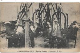 CHAZELLES SUR LYON - Fabrique Française - Semoussage De Laine (beau Plan Atelier) - Other Municipalities