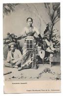 Postcard Dutch East Indies ? Inlandsche Dansmeid Native Dancing Girl Ethnic Dancer Traditional Costume C. 1900-1905 - Asia