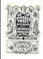 KB1601 - GRANDE VIGNETTE 13 X10 CM - EXPOSITION COLONIALE NOGENT SUR MARNE 1907 - Historische Dokumente