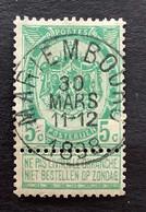 Rijkswapen OBP 56 - 5c Gestempeld  EC MARIEMBOURG - 1893-1907 Wappen