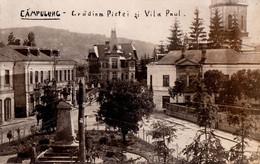 CÂMPULUNG MUSCEL / ARGES : GRADINA PIETEI Si VILA PAUL - CARTE VRAIE PHOTO / REAL PHOTO POSTCARD ~ 1930 - '935 (ah574) - Rumania