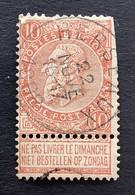 Leopold II Fijne Baard OBP 57 - 10c Gestempeld  EC HERSEAUX - 1893-1900 Thin Beard