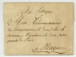 Theobald Baron De BACHER (Thann 1748 - Mainz 1813) Diplomat Frankfurt Am Main 1800 Rothe Shee Chevalier De Malte - Documenti Storici