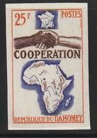 DAHOMEY - N°213 **  NON DENTELE (1964) Coopération - Benin – Dahomey (1960-...)