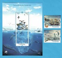 Portugal 16.06.2021 , Descoberta Da Antártida - Sheet And Stamps - Postfrisch / MNH / (**) - Unused Stamps