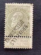 Leopold II Fijne Baard OBP 59 - 20c Gestempeld  GRIFFE BRUXELLES EFFETS DE COMMERCE - 1893-1900 Schmaler Bart