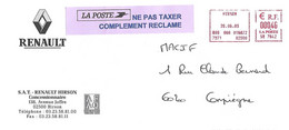 Enveloppe La POSTE Oblitération Mécanique Bloc Dateur Carré HIRSON 20 06 03 -  NE PAS TAXER COMPLEMENT RECLAME - 1961-....