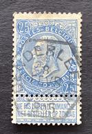 Leopold II Fijne Baard OBP 60 - 25c Gestempeld  OCTOGONAAL DENDERLEEUW - 1893-1900 Schmaler Bart