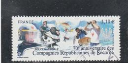 70 E ANNIVERSAIRE DES COMPAGNIES REPUBLICAINES DE SECURITE FRANCE 2014 OBLITERE YT 4922  - - Gebraucht