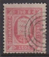 1875. DANMARK. TJENESTE 8 Øre Rosa. Perf. 14x13½ With Inverted Watermark. (Michel D6YA) - JF422293 - Dienstzegels