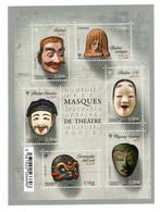 YV F4803 YV 4803 à 4808 N** Masques De Theatre  - Prix = Faciale - Nuevos