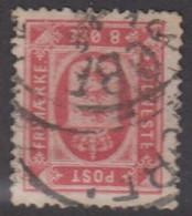 1875. DANMARK. TJENESTE 8 Øre Rosa. Perf. 14x13½ With Inverted Watermark. (Michel D6YA) - JF422294 - Dienstzegels