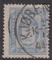 1875. Official. 4 Øre Ultramarin. Perf. 14x13½ (Michel D5yba) - JF422296 - Dienstzegels