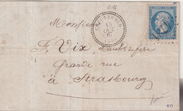 "FRANCE : GC 4781 .  "" CREUTZWALD "" . ( 55 ) . N° 22 . 1867 . SIGNE BAUDOT . - 1849-1876: Klassieke Periode"