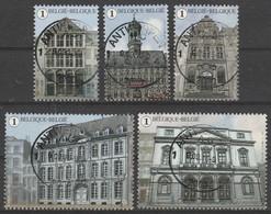 4527/4531 La Grand Place De Mons /Grote Markt Van Bergen Oblit/gestp Centrale - Used Stamps