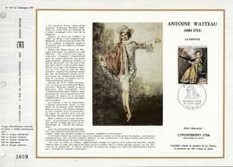 DOCUMENT FDC 1973 PEINTURE DE WATTEAU - 1970-1979