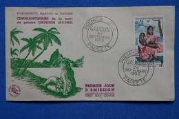 W3 FRANCE OCEANIE BELLE LETTRE ASSEZ RARE  1953 IER JOUR   + AFF. PLAISANT - Lettres & Documents