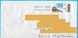 """Montimbrenligne 20gr Lettre Verte """"Mont Saint Michel"""" Marque De Tri Adresse Du Destinataire - Gepersonaliseerde Postzegels (MonTimbraMoi)"""