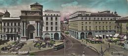 Parma : Piazza Garibaldi (CP Hors Format : Voyagé Avec Flamme Intéressante) Déchirée Au Bas-milieu - Parma
