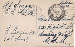 AK Kempenich, Brohltalbahn, US-Feldpost Nach Washington 1919 - Covers & Documents